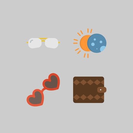 icon set about Travel. with eclipse, sunglasses and wallet