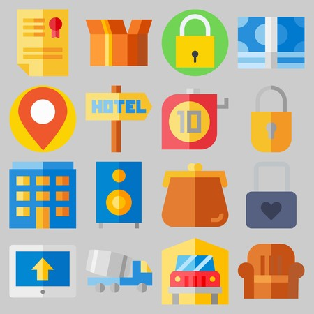Icon set about Real Assets with keywords money icons, property, up, title, placeholder and single