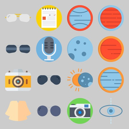 icon set about Hippies. with eclipse, blank and shirt Banque d'images - 102087348