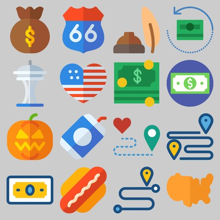 icons set about United States . Stockfoto - 102087396