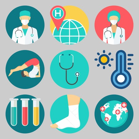icons set about Medical . Stock Illustratie