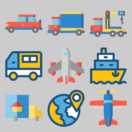icons set about Transport