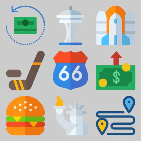 icons set about United States .