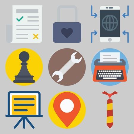 icons set about Digital Marketing .
