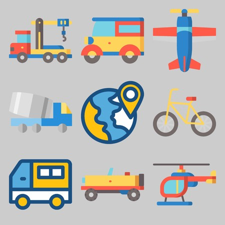 icons set about Transport . Stockfoto - 102087459