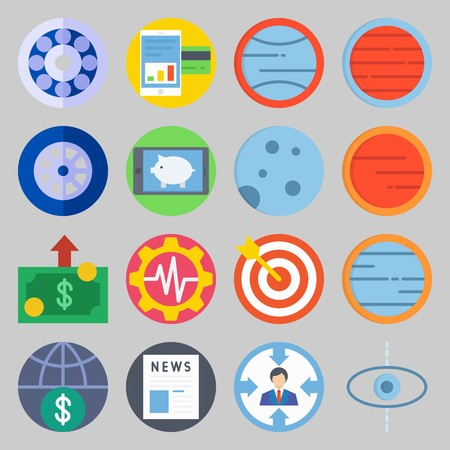 icon set about Transportation. with rising exchange , settings and news Illustration