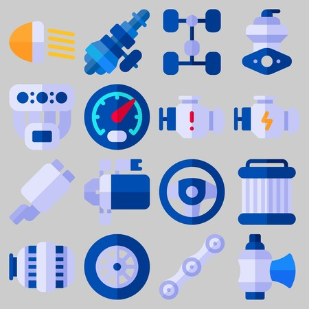 icons set about Car Engine .