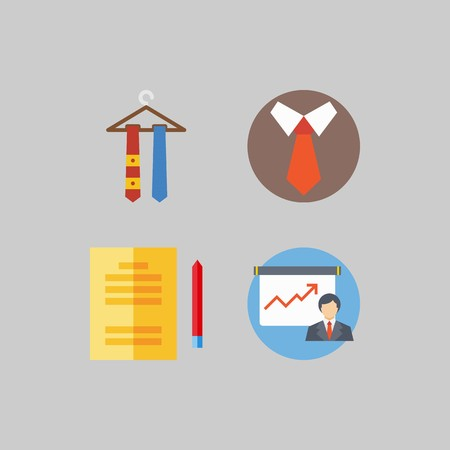 icon set about School And Education. with petition, presentation and studying Illustration