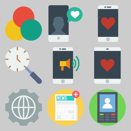 icons set about Marketing