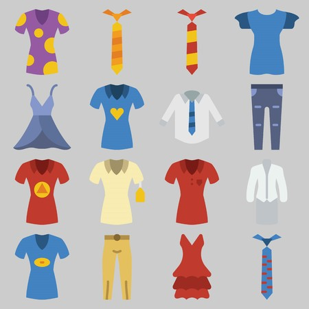 icons set about Clothes And Accessoires