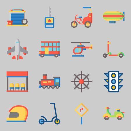 Icons set about Transportation. Çizim