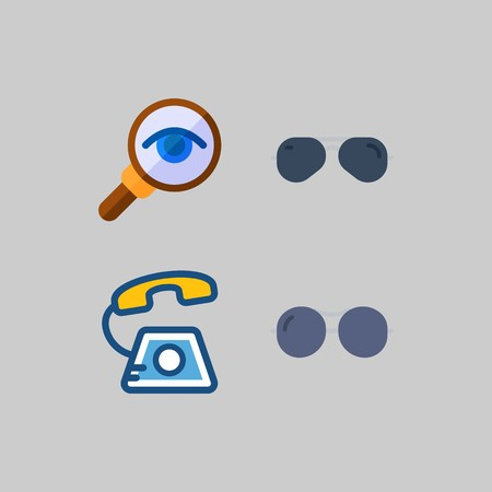icon set about Romance - Lifestyle. with phone call, phone and magnifying glass