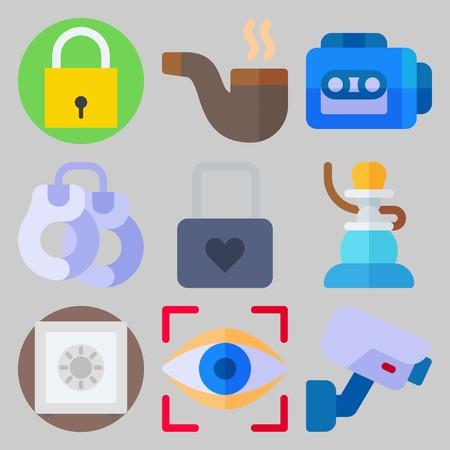 Icon set about Crime Investigation Illustration