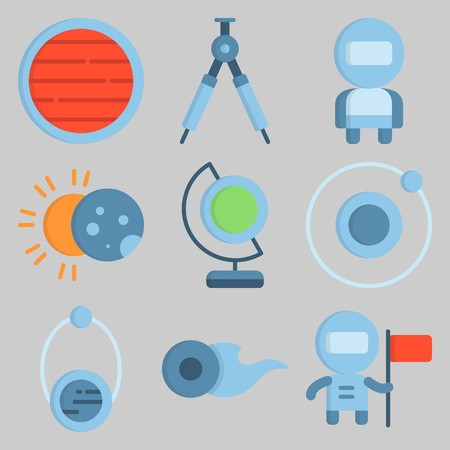 Icon set about Universe