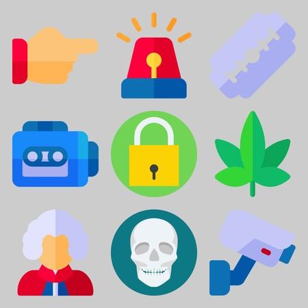 icons set about Crime Investigation . [keywordRandom:3]