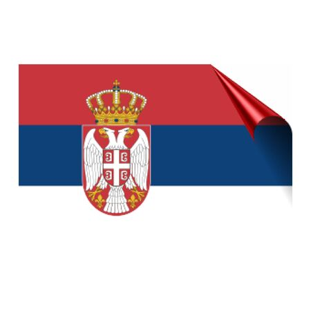 Serbia flag Vector illustration.