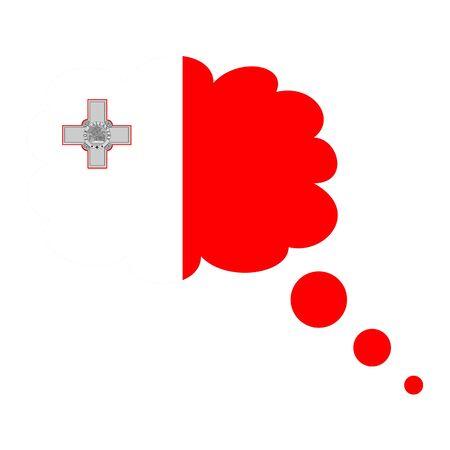 Malta flag icon vector illustration isolated on white background. 스톡 콘텐츠 - 96921560