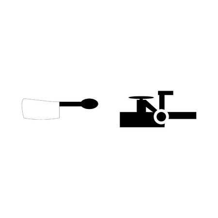 icon Instruments And Tools with cafe, black, desing, breakfast and spoon Illustration