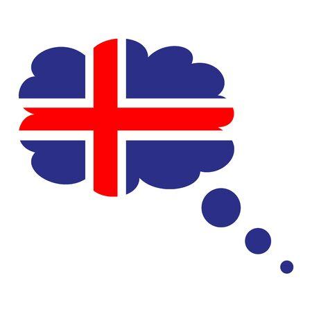 Flag of Iceland icon.