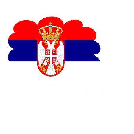 Flag of Serbia icon.