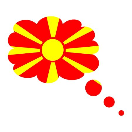 Macedonia flag icon vector illustration isolated on white background. Stock Illustratie