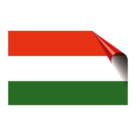 Hungary flag icon vector illustration isolated on white background. Ilustração