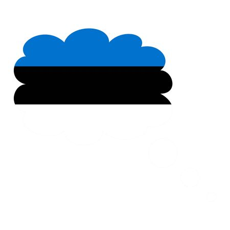 Estonia flag icon vector illustration isolated on white background.