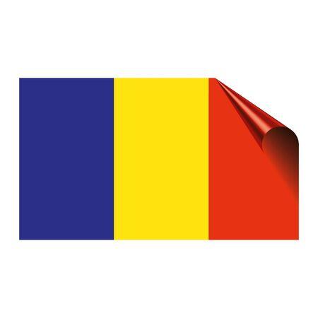 Flag of Romania icon. Ilustrace