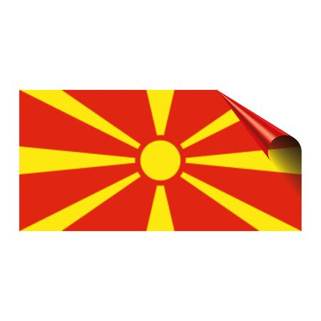 Flag of Macedonia icon. Stockfoto - 96928878