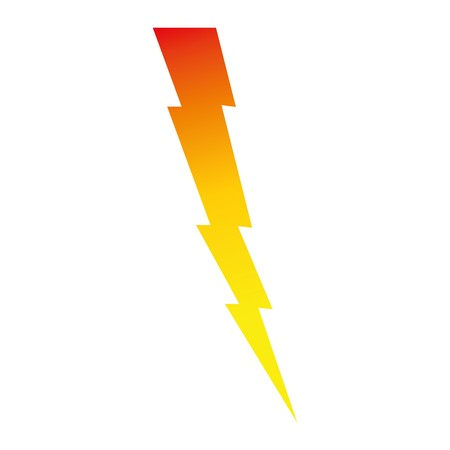 Lightning bolt icon on whit background.