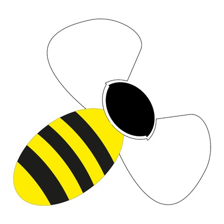 Bee icon on white background. 矢量图像