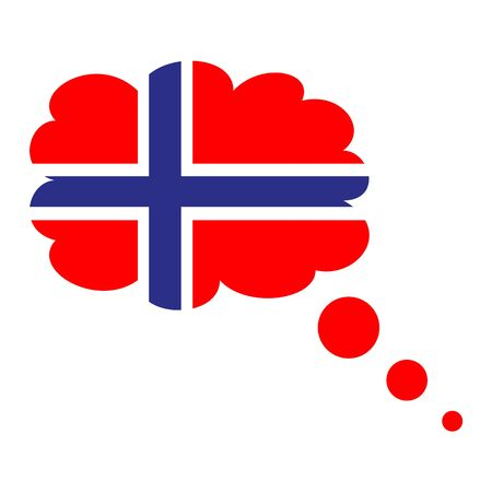 Flag of Norway icon.