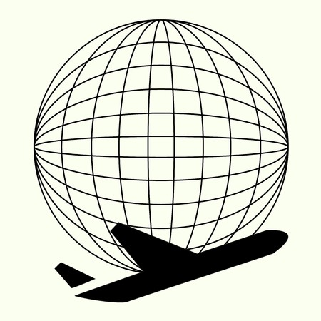 travel, cargo, airplane and business icon