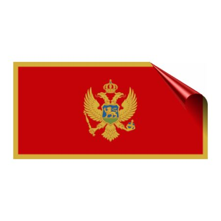 montenegro, flag of montenegro , national and montenegro flag icon  イラスト・ベクター素材