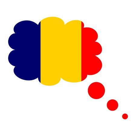 vlag, vlag van roemenië, roemeens en roemenië pictogram