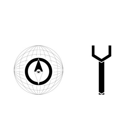 icon Instruments And Tools with travel, options, map, tool and north