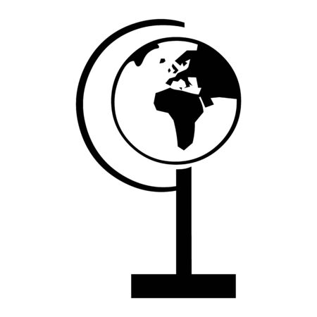globe, cosmic, cosmos and planet icon Illustration