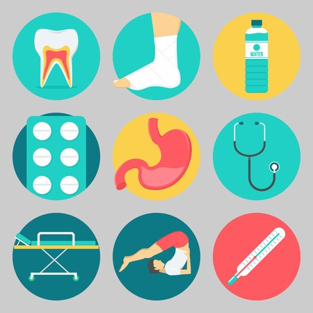 Icons set about Medical
