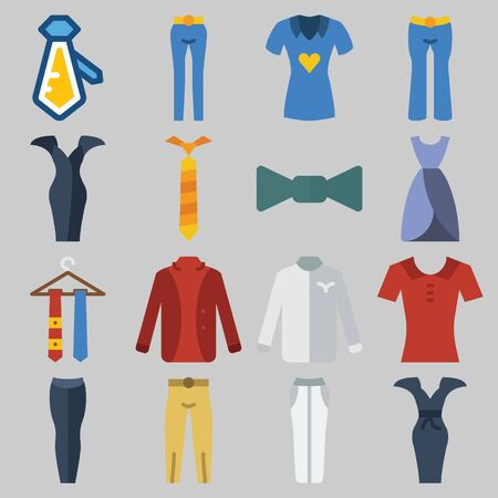 Icons set about Clothes And Accessories