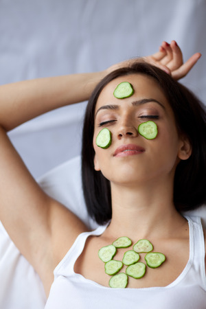 hassle: Woman with cucumbers