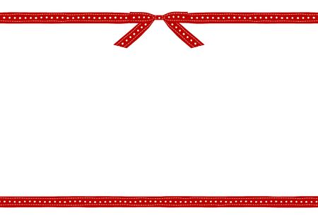a frame of white background surrounded up and down with white Tyrolean tape on a red background
