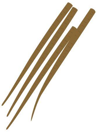 Simple vector illustration of burdock