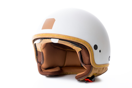 motorcycle helmet isolated on white background