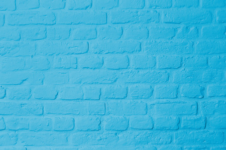 Brickstone wall full frame, pastell blue colored, image background 스톡 콘텐츠