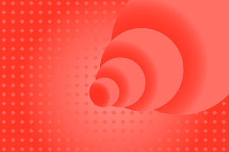 Red rose abstract background with spheres and pattern rhombuses