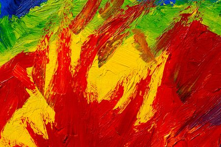 abstract colorful real oil painting background