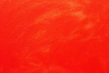 Abstract painted background. Background was painted with red tempera color on canvas by hand.