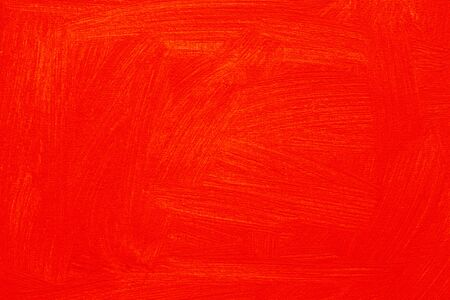 Abstract red orange painted full frame background, real oil painting on canvas by hand