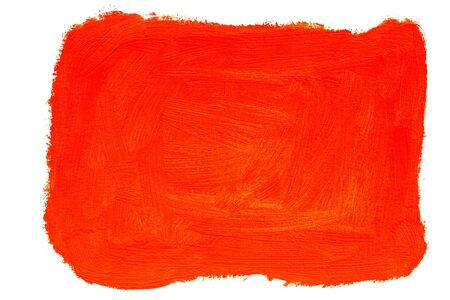 Abstract red orange painted background, real oil painting by hand isolated on white background