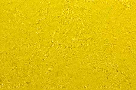 Abstract yellow brushstrokes painted background, real impasto yellow oil painting by hand Stok Fotoğraf